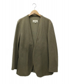Maison Margiela(メゾンマルジェラ)の古着「ノーカラージャケット」|ベージュ