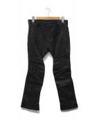 HAIDER ACKERMANN(ハイダーアッカーマン)の古着「レザーパンツ」|ブラック