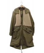 MR.GENTLEMAN(ミスタージェントルマン)の古着「ミリタリーボアコート」|カーキ