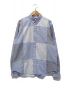 Supreme(シュプリーム)の古着「パッチワークオックスフォードシャツ」|ブルー