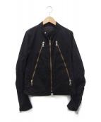 Maison Martin Margiela(メゾンマルタマルジェラ)の古着「コットン八ノ字ライダースジャケット」|ブラック