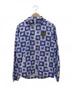F.C.R.B.×NIKE(エフシーリアルブリストル×ナイキ)の古着「ウォームアップジャケット」|ブルー×ホワイト
