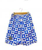 F.C.R.B.×NIKE(エフシーリアルブリストル×ナイキ)の古着「ウォームアップショーツ」|ブルー×ホワイト