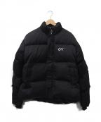 OY(オーワイ)の古着「バックロゴパフィージャケット」|ブラック