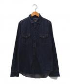 MINEDENIM(マインデニム)の古着「ウエスタンシャツ」|インディゴ