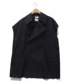 YOKE(ヨーク)の古着「オーバートレンチベスト」 ブラック