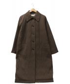 HANAE MORI(ハナエモリ)の古着「プリーツ加工コート」|ブラウン