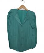 PLEATS PLEASE(プリーツプリーズ)の古着「プリーツジャケット」 ライトブルー