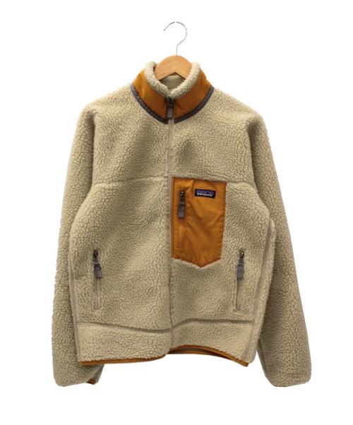 Patagonia(パタゴニア)Patagonia (パタゴニア) クラシックレトロXジャケット ベージュ×イエロー サイズ:S 23056の古着・服飾アイテム