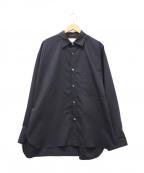 stein(シュタイン)の古着「オーバーサイズダウンパッドシャツ」|ネイビー