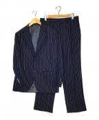 POLO RALPH LAUREN(ポロ・ラルフローレン)の古着「ストライプセットアップスーツ」|ネイビー