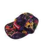 Supreme(シュプリーム)の古着「Painted Floral Camp Cap」|マルチカラー