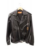 BANA(バナ)の古着「ダブルライダースジャケット」|ブラック