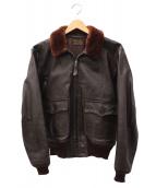 EASTMAN LEATHER CLOTHING(イーストマン レザー クロージング)の古着「G-1フライトジャケット」|ブラウン