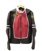 VANSON(バンソン)の古着「レーシングレザージャケット」 ブラック