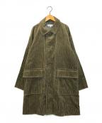 BEAUTY&YOUTH(ビューティアンドユース)の古着「コーデュロイ バルカラー コート」 ベージュ