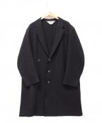 SUNSEA()の古着「カットオフメルトンコート」|ネイビー