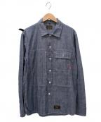 WTAPS()の古着「Deck Chambray Longsleeve Shirt」|サックスブルー