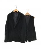BARENA(バレナ)の古着「2ピースモールスキンテーラードジャケット」|ネイビー