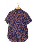 ()の古着「ペイズリー柄S/Sシャツ」|ネイビー