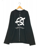 ()の古着「ロゴプリントジップスウェット」|ブラック