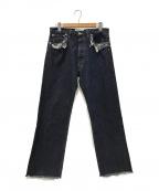 Martin Margiela 10(マルタンマルジェラ 10)の古着「19AW Rinse washed Denim Pants」|インディゴ