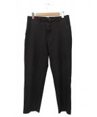 ()の古着「ポリ縮絨パンツ」 ブラック