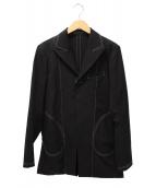 ()の古着「ウールギャバステッチジャケット」 ブラック