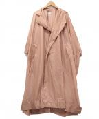 PLEATS PLEASE(プリーツプリーズ)の古着「ナイロンコート」 ピンク
