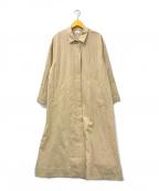 emmi atelier()の古着「リネンステンカラーコート」 ベージュ