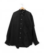 DAIWA PIER39(ダイワ ピアサーティンナイン)の古着「TECH REGULAR COLLAR SHIRTS LON」 ブラック