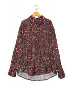 ()の古着「総柄コーデュロイシャツ」|レッド