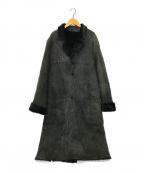 lucien pellat-finet(ルシアン・ペラフィネ)の古着「シェアードムートンドロップショルダーコート」|ブラック