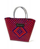MARNI(マルニ)の古着「マーケットピクニックバッグ」|レッド