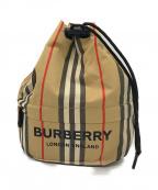 BURBERRY LONDON ENGLAND(バーバリー ロンドン イングランド)の古着「ノバチェック巾着ショルダーバッグ」 ブラウン