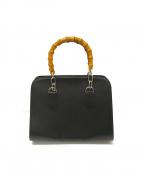 COMME des GARCONS COMME des GARCONS()の古着「バンブーハンドバッグ」|ブラック