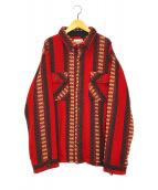()の古着「ネイティブCPOシャツジャケット」|レッド
