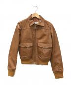 RED VALENTINO(レッドヴァレンティノ)の古着「レザージャケット」 ブラウン