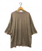 YOKE(ヨーク)の古着「ドロップショルダーハーフスリーブTシャツ」 ベージュ