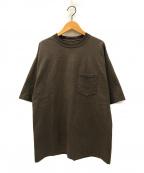 CIOTA(シオタ)の古着「度詰め吊り天竺スビンコットンTシャツ」|ブラウン