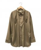 Toironier(トワロニエ)の古着「オーバーサイズウエスタンシャツ」 ブラウン