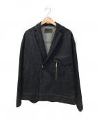 CULLNI(クルニ)の古着「デニムテーラードジップジャケット」 インディゴ