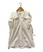AKIRA NAKA(アキラナカ)の古着「Gwen shirt」|ホワイト