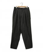 Y's for men(ワイズフォーメン)の古着「シルクトラウザーパンツ」|ブラック