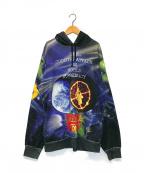 Supreme×Undercover(シュプリーム×アンダーカバー)の古着「パブリックエネミ-フーデッドスウェットシャツ」|ネイビー