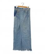 MAISON EUREKA(メゾン エウレカ)の古着「VINTAGE REWORK BIGGY PANTS」|インディゴ