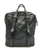 GIORGIO ARMANI(ジョルジョアルマーニ)の古着「レザーハンドバッグ」|ブラック