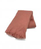 ASAUCE MELER(アソースメレ)の古着「オールアルパカストールマフラー」|ピンク