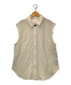 TODAYFUL(トゥデイフル)の古着「スリーブレスメッシュシャツ」 ベージュ