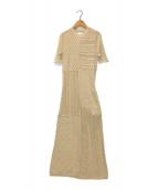 ()の古着「パッチワークニットドレス」|ベージュ